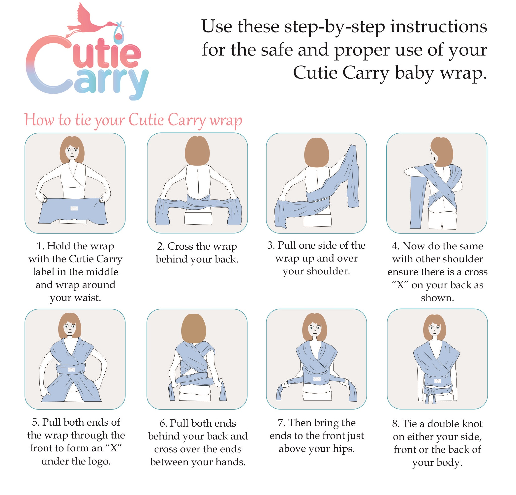 How To Tie Your Cutie Carry Wrap Cutie Carry